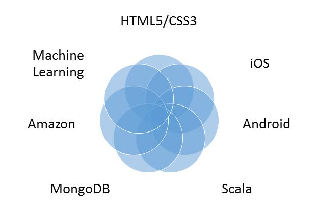 نمودار مهارتهای یک توسعه دهنده Full Stack