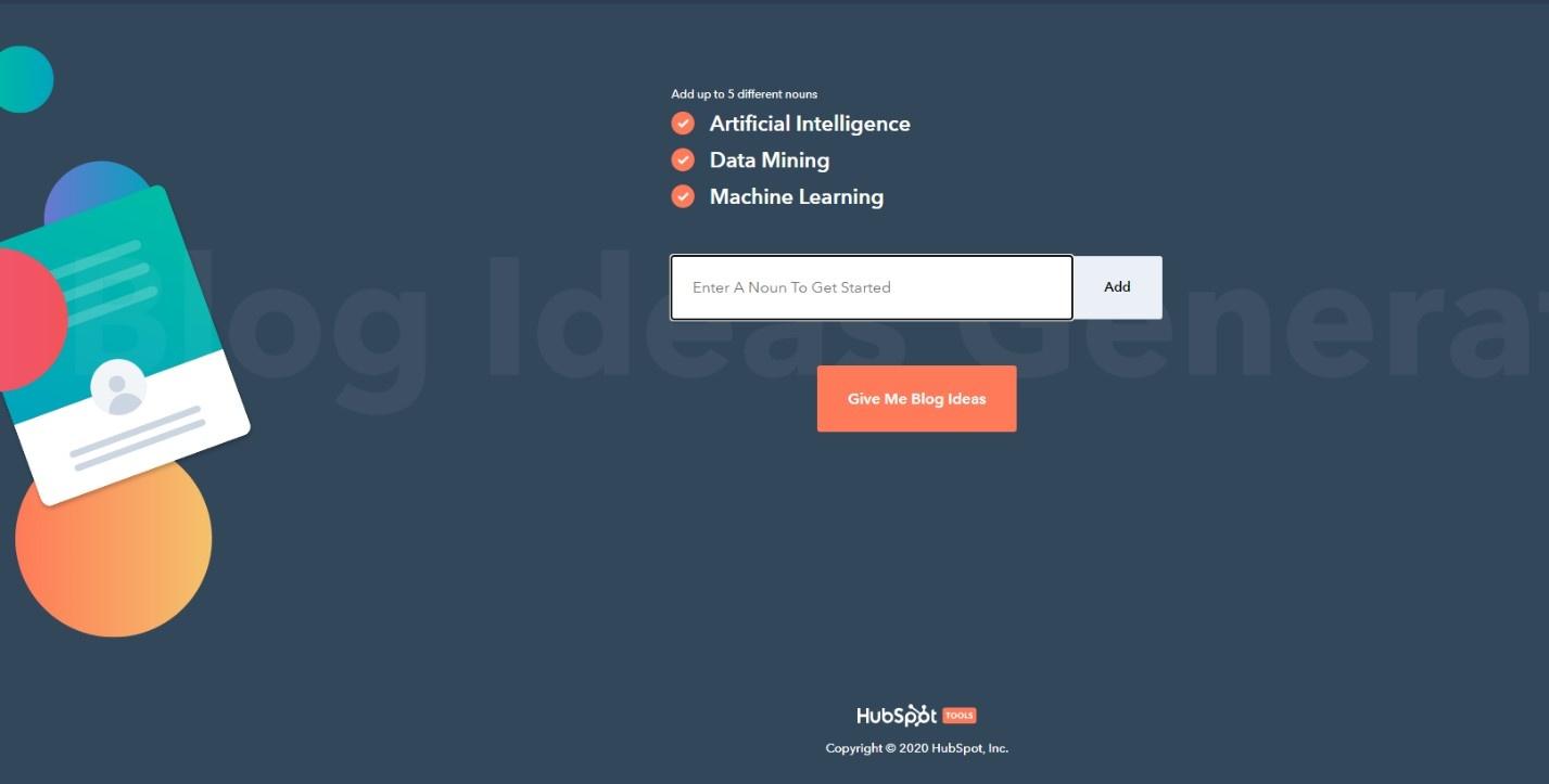 سایت Hubspot با دریافت کلیدواژهها عناوین پیشنهادی جذابی ارائه میکند که امکان آمادهسازی محتوا بر مبنای این عناوین ساده میشود.
