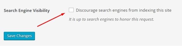 اطمینان حاصل کنید که وبسایت توسط موتورهای جستوجو مشاهده میشود